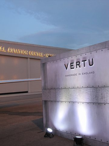 Vertu flies a new phone in (literally)